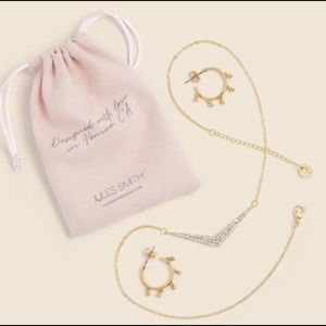 NWT-JULES SMITH HOOP & NECKLACE DUO
